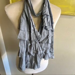 Juicy couture scarf ruffled detail gray cotton